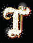 Bling alphabet T