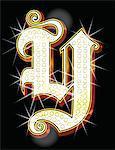 Bling alphabet Y