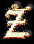 Bling alphabet Z