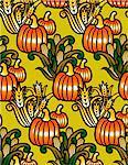 Pumpkins, corn and wheat