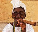 cuban woman with cigar
