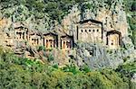 Ancient tombs and ruins of Dalyan, Turkey