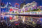 Taipei, Taiwan cityscape at Xinyi Financial District.
