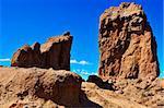 a view of Roque Nublo monolith in Gran Canaria, Spain