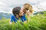 Couple enjoying the meadow