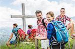 Group of friends on hike, Tyrol, Austria