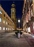 Theatinerkirche and Odeonplatz in the Evening, Munich, Bavaria, Germany