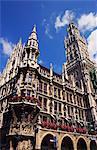 Gothic Town Hall, Munich, Bavaria, Germany
