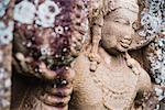 Guardian statue at Thuparama Dagoba, Mahavihara (The Great Monastery), Anuradhapura, UNESCO World Heritage Site, Sri Lanka, Asia