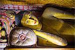 Reclining Buddha in Cave 3 (Great New Monastery), Dambulla Cave Temples, UNESCO World Heritage Site, Dambulla, Central Province, Sri Lanka, Asia