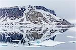 Alkefjellet (Auk Mountain) at Kapp Fanshawe, Spitsbergen, Svalbard, Norway, Scandinavia, Europe