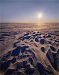 Sun on a Snowy Plateau, Antartica