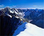 Mont Blanc Mountain Range, Alps, Haute Savoie, France