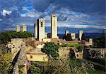 Towers of the Duomo Church, San Gimignano, Tuscany, Italy