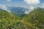 View of Fellhorn from Kanzelwand, Kleines Walsertal, Austria, Europe