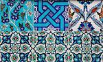 Decorative ceramic tiles, Cavalry Bazaar, Istanbul, Turkey, Western Asia
