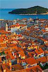 Old Town (Stari Grad), UNESCO World Heritage Site, with Lokrum Island beyond, Dubrovnik, Dalmatia, Croatia, Europe