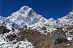 Chola Khola valley near Dzonglha with Arakam Tse, Solukhumbu District, Sagarmatha National Park, UNESCO World Heritage Site, Nepal, Himalayas, Asia