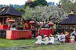 Traditional hindu praying, bali, indonesia