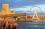 Seattle Great Wheel on Pier 57, Seattle, Washington State, United States of America, North America