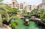 Dhows cruise around the Madinat Jumeirah Hotel, Dubai, United Arab Emirates, Middle East