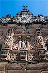 Ornamented gate of the Bonfirm church in the Pelourinho, UNESCO World Heritage Site, Salvador da Bahia, Bahia, Brazil, South America