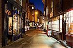 Toward Stonegate from Minster Gate, City of York, Yorkshire, England, United Kingdom, Europe