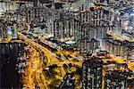 Aerial of Hong Kong.