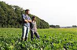 France, young farmer couple.