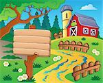 Farm theme with red barn 4 - eps10 vector illustration.