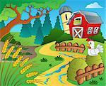 Farm theme with wheat - eps10 vector illustration.