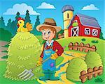 Farmer theme image 7 - eps10 vector illustration.