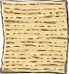 Vector illustration of Matzo Matza from the Jewish holiday Passover.