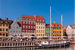 Boat in Canal, Nyhavn, Copenhagen, Denmark