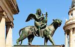 Konzerthaus hall statue, Gendarmenmarkt square, Berlin