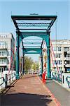 Bridge Ezelsbrug in good weather, Amsterdam, the Netherlands