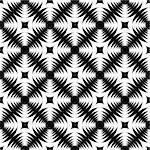 Design seamless monochrome geometric cross pattern. Abstract textured background. Vector art