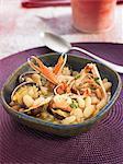 White bean,leek,Dublin Bay prawn and littleneck clam stew