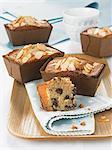 Chocolate and almond mini cakes