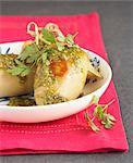 Squid with pistachio stuffing