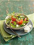 Rocket lettuce,grapefruit and feta salad