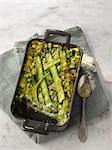 Ravioli,zucchini and basil bake