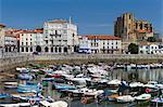 Seaside resort of Castro Urdiales in Northern Spain with the 13th Century Iglesia de Santa Maria