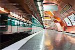 The Paris metro station of Arts et Metiers, Paris, France, Europe
