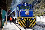 Train at Station, Ollantaytambo, Urubamba Province, Cusco Region,Peru