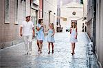 Family takes a walk, eating ice cream, Zadar, Croatia