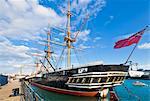 HMS Warrior in the docks Portsmouth Historic Dockyard, Portsmouth, Hampshire, England, United Kingdom, Europe