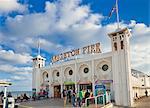 Entrance to Brighton Pier, Brighton, East Sussex, England, United Kingdom, Europe