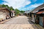 Annah Rais Bidayuh longhouse, Kuching, Sarawak, Malaysian Borneo, Malaysia, Southeast Asia, Asia,