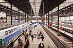 A busy Basel SBB railway station, Basel, Switzerland, Europe